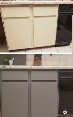 Add Peel And Stick Wallpaper On Cabinets Before And After Of