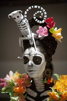 La Catrina at a Fashion Show in Cancun, Mexico - Day of the Dead Costume