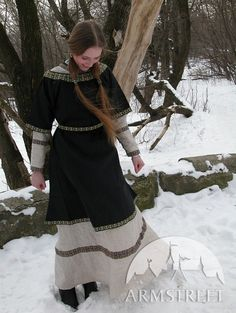 Medieval Natural Linen Chemise Tunic and Black Cotton by armstreet, $176.00