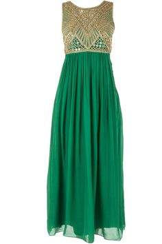 Emerald green embroidered maxi available only at Pernia's Pop-Up Shop.