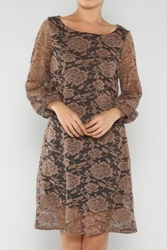 """Floral Laced Dress It's a good thing I was born a girl, otherwise I'd be a drag queen."""" #fallfashion #salediemlovesfashion Shipping is FREE!!"""