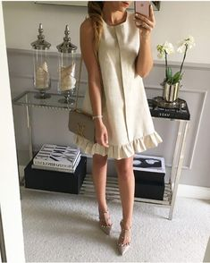 Stylish dresses, trapeze 2018 / All for women . Simple Dresses, Cute Dresses, Casual Dresses, Short Dresses, Fashion Dresses, Summer Dresses, Stylish Dresses, Summer Outfits, Office Outfits