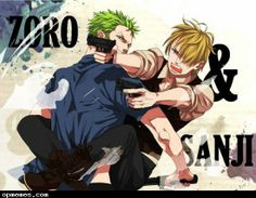 Roronoa Zoro and Sanji