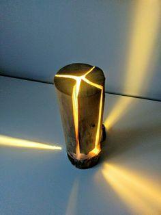 Swedish Torch Rustic Wooden Log Floor Lamp Floor Lamps