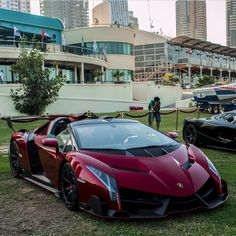 Lamborghini Veneno Painted in Rosso Veneno Photo taken by: @n.rd on Instagram