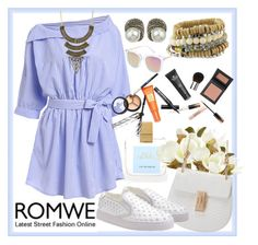 """ROMWE 8"" by ziandra ❤ liked on Polyvore featuring Irene Neuwirth, Pier 1 Imports and Borghese"