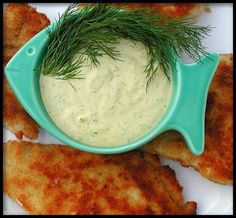Dill Sauce for Fish - Fish For Healthy Life Fish Dishes, Seafood Dishes, Fish And Seafood, Seafood Recipes, Dinner Recipes, Cooking Recipes, Fondue, Lemon Dill Sauce, Dill Sauce For Salmon