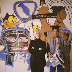 Basquiat and Warhol 1985