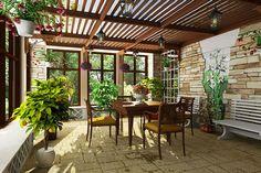 Планировка дома веранда