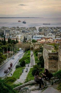 Thessaloniki, Greece 💙 Macedonia Greece, Crete Greece, Greece Thessaloniki, Beautiful Islands, Beautiful Places, Amazing Places, Holiday Places, Ancient Greece, Greece Travel