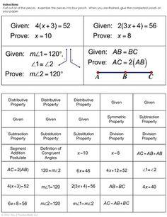geometry proofs cheat sheet