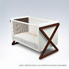 The campaign crib from ducduc is ultra chic and the perfect piece for a modern nursery.