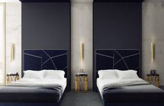 When you step into the bedroom design, you find an elegant retreat where you can relax in style #luxuryhotels #hotels #hospitality #designhotels #berlin #brabbucontract @brabbucontract