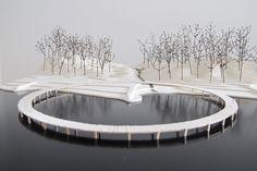 The Infinite Bridge / Gjøde & Povlsgaard Arkitekter, architectural model, maquette, modelo