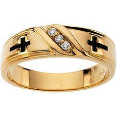 Cross And Diamond Wedding Band Men S Religious First Communion Dresses