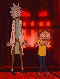 Rick And Morty, Ricky Y Morty, Picture Boards, Red Wallpaper, Wall Collage, Anime, Drawings, Illustration, Artwork