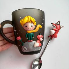[New] The 10 Best Home Decor Today (with Pictures) Fimo Polymer Clay, Polymer Clay Projects, Polymer Clay Creations, Clay Crafts, Diy And Crafts, Fimo Kawaii, Clay Cup, Clay Ornaments, The Little Prince