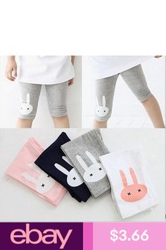 8ab4fd8da8642 Buy Top Fashion 4 color Rabbit Footless Girls Knee Length Kid Five Pants  Cropped Clothing Kids Leggings Children's Summer Cool at Wish - Shopping  Made Fun