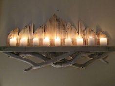 Long Beautiful Unique Driftwood Shelf Solid Rustic Shabby Chic & Nautical