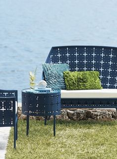 Try out a glamourous, retro feel for your outdoor furniture.