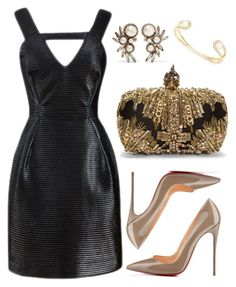 """LBD"" by cherieaustin on Polyvore featuring Kate Spade, Elizabeth Cole, Kalmanovich and Alexander McQueen"