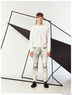 Neil Barrett is Graphic & Sporty for Pre Spring 2015 Mens Collection