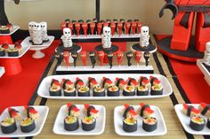 Ninja Party Desserts for Boys