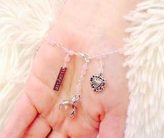 Lucky Hand/Crystal Ball Rose Quartz Charm by JennyRocksJewelry
