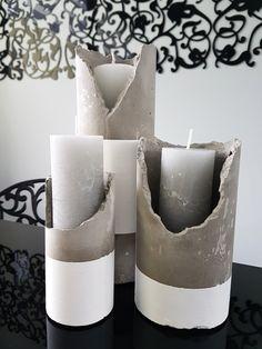 Betonowe świeczniki, nowoczesne dekoracje
