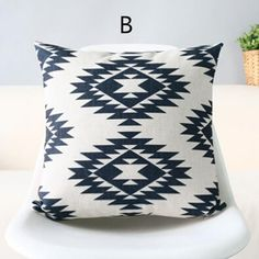 Nordic style black and white geometric pillow for sofa modern abstract decorative pillows