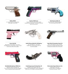 Every woman should know how to handle a gun! I want one of each. :)