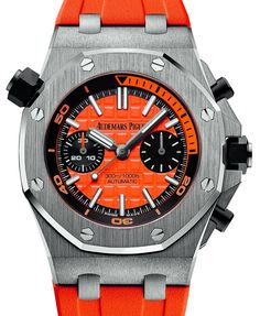 The new Audemars Piguet Royal Oak Offshore Diver Chronograph watch with images, price, background, specs, & our expert analysis. Audemars Piguet Diver, Audemars Piguet Watches, Audemars Piguet Royal Oak, Iwc Watches, Sport Watches, Wrist Watches, Patek Philippe, Stylish Watches, Cool Watches