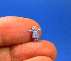 Chris Okubo Originals miniature girl doll in blue coat
