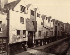 Old houses in Bermondsey Street, This photograph was commissioned by the Society for Photographing Relics of Old London to form part o. London Pictures, London Photos, Old Pictures, Old Photos, Vintage Photos, Vintage Photographs, Victorian London, Vintage London, Old London
