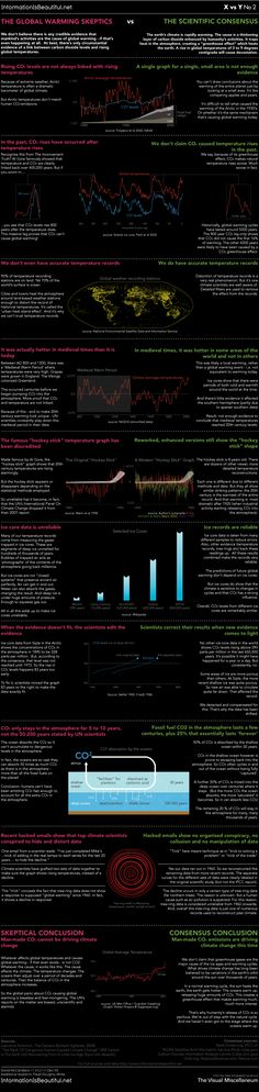 The Global Warming Skeptics vs. The Scientific Consensus (David McCandless is one amazing infographic designer)