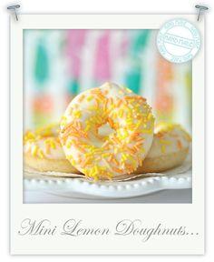 Gluten Free lemon doughnuts by Torie Jayne