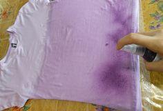 Customização de blusinha com Pump Dye - aplicando o produto