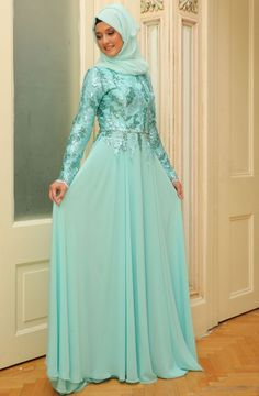 Mislina Üstü Pullu Eteği Şifon Elbise 15Y3417 Mint