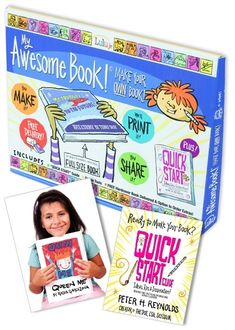 I designed this box and the guide to help kids get started writing and illustrating their own book. LuluJr and FableVision teamed up to inspire kids to be published authors! Get your professionally printed book sent by mail to you!