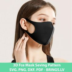 Face Mask Sewing Pattern PDF, SVG, DXG, EPS, Cut Files - Quarantine Mask Template - Pandemic Mask Template - Facemask PDF - Instant download Purple And Black, Pink Blue, Black And White, Mascaras Halloween, Mask Online, Ear Parts, Face Lines, Mask Template, Masked Man