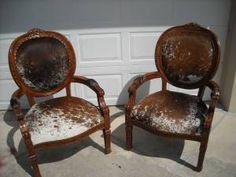 cowhide chairs. This is what I was suggesting @Patty Markison Markison Markison eberharter for your chair