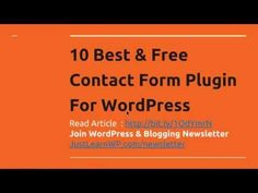 10 Best & Free Contact Form Plugin For WordPress - http://www.howtowordpresstrainingvideos.com/free-wordpress-plugins/10-best-free-contact-form-plugin-for-wordpress/