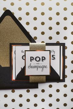 BROOKE Suite Fancy Glitter Package, black and gold, glitter wedding invitations, cute wedding invitations, kate spade inspired wedding, fancy wedding invitations