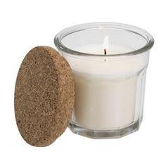 Kynttilä ASGAR Ø9xK9cm valk. kannella Candle Jars, Candles, Tea Lights, Cork, Ideas, Recipes, Tea Light Candles, Candy, Corks