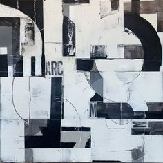 """ARC"" #mixedmedia on wooden panel #graphicdesign #geometric #typography #textures #abstractart #inthestudio #contmporaryart #constructivism"