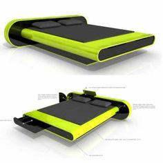 Futuristic Floating Bed Design