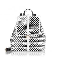 Radley Jonathan Saunders black and white bag. Radley Handbags, Radley Bags, Women's Handbags, White Backpack, Leather Backpack, Leather Bags, Real Leather, White Leather, Handbags