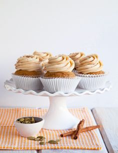 Chai Sweet Potato Cupcakes