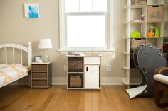 Complete your Kids Bedroom, play room, or nursery with Sprout's Modern kids Play Kitchen!