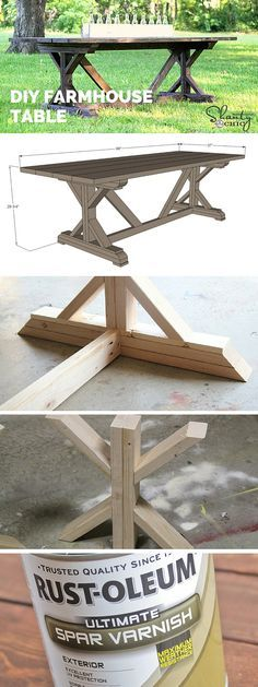 Check out the tutorial: #DIY #Anthropologie Farmhouse Table Knockoff #crafts #homedecor